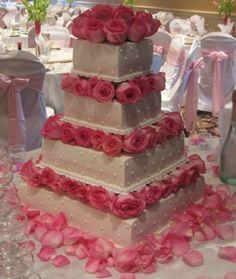 Pink wedding themes have always been popular and probably always will be. Since there are tons of wedding themes that incorporate the color pink,. Its for a XV bday.hm blue and silver Square Wedding Cakes, Wedding Cake Roses, Pink Wedding Theme, Wedding Wishes, Rose Wedding, Wedding Themes, Wedding Ideas, Princess Wedding, Dream Wedding
