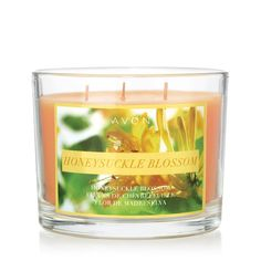 Honeysuckle Blossom Candle. They smell great. Go to www.youravon.com/mlefevre.com to order
