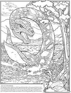 Loch Ness Monster colouring page   Scotland/England Trip ...