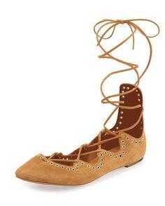 a4c1bcc17e9 Isabel Marant Leo Grommet Ankle-Wrap Ballet Flat  600 NEW Size US 7 EU 37