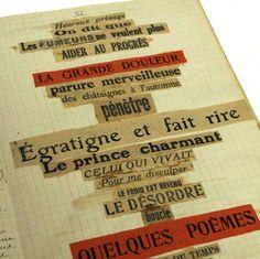 Poème-collage d'André Breton  www.artexperiencenyc.com