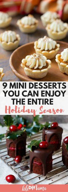 We love the trend of mini desserts! They are cute, great for portion control, and cook way faster than a traditional dessert because they're so small. If you're looking for a way to make your life easier in the dessert department this year, check out our list of delicious mini desserts.