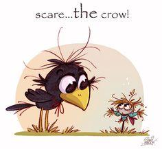 Scare...THE crow by princekido.deviantart.com on @deviantART