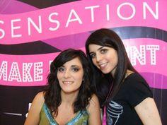 Da destra la candidata Marrazzo Laura insieme alla sua modella che esibisce il trucco completato!