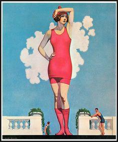 Illustration by Cole Phillips, Mode Vintage, Vintage Ads, Vintage Images, Vintage Circus, Vintage Vogue, Vintage Paper, Pin Up, Life Magazine, Magazine Art