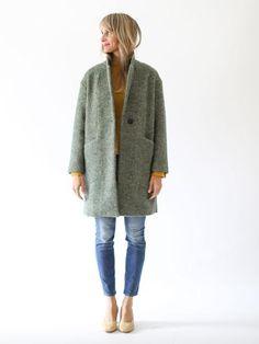 Pomandère - Italian Wool Coat - Moss