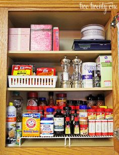 Organizing The Spices. Kitchen Cabinet OrganizationBaking ...
