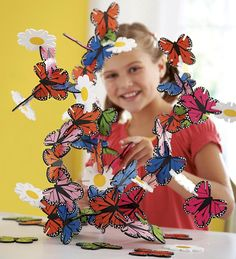 Our Butterfly and Flower Connectagon Set of Wood Sculpture Pieces with slotted sides that connect lets kids create amazing free-form sculptures in any d… Butterfly Gifts, Butterfly Flowers, White Flowers, Butterfly Birthday, Beautiful Butterflies, My Bebe, Thing 1, Imaginative Play, Wood Sculpture