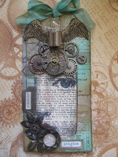 #papercraft #tag Love this Steampunk Tag by Pink Ink