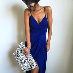 The Core Dress in Cobalt Blue #whiterunway