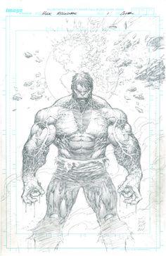 #Hulk #Fan #Art. Hulk: Asunder 1 Cover. Pencils) By: Marc Silvestri. ÅWESOMENESS!!!™ ÅÅÅ+