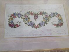 COUNTED CROSS STITCH KIT, HERITAGE COLLECTION, ELSA WILLIAMS, FLORAL BROCADE.  eBay item number:131567842846