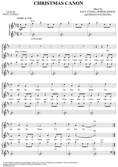 Christmas Canon Christmas Piano Sheet Music, Piano Sheet Music Pdf, Printable Sheet Music, Digital Sheet Music, Christmas Music, Piano Music, Music Sheets, Piano Lessons, Music Lessons