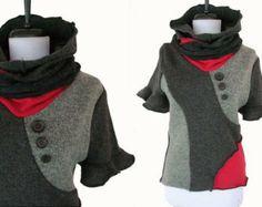 Asymmetric Patchwork Sweater M