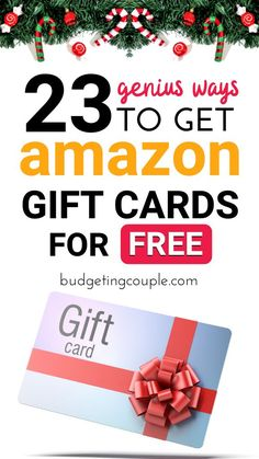 Want a FREE Amazon shopping spree?😍 Check out our ultimate guide to racking up free amazon gift cards (from the comfort of your home).🏡 These free gift card hacks are the perfect *easy* side hustle to pick up (especially for frugal living beginners) to make tons of free money! Start racking up free gift cards today! (click here) Budgeting Couple | Budgeting Couple Blog | BudgetingCouple.com #frugal #free #freebies #amazon