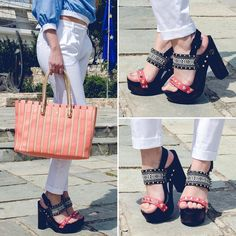 #Coral tones  tap for details #lookbook #lovefashiongr #fashion #fashionblog #fashionblogger #greekbloggers #alexiaboutique #wearflogg #chunckyheels #n9ve #jlobyjenniferlopez #handbag #ootd #sotd #wearthistoday #streetstyle #style #stylish #shoes #shoeporn #followme