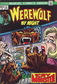 Werewolf By Night #12, cover artwork by John Romita Sr. Published by Marvel Comics, December 1973.
