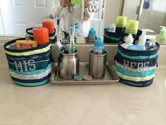 Thirty-One Gifts - Oh Snap Bins help conquer the bathroom clutter!