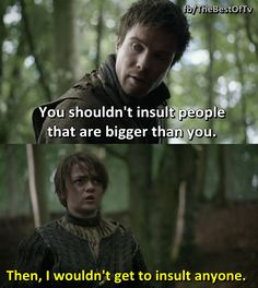 Arya and Gendry <3  Game of Thrones!