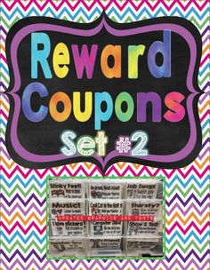 Reward Coupons Set #2! Throw away your treasure box & use the intrinsic reward coupon system  instead! 65 different coupons + full pages to put together a binder catalog. Awesome reviews!