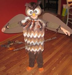 How to make owl wings for costume crafty pinterest owl cute diy owl costume solutioingenieria Images
