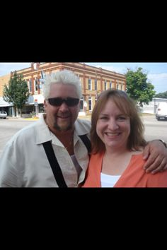 Cafe on the Route- Guy Fieri and Amy Sanell, owner