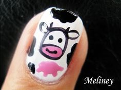 Cow Print and Udder Nails by Meliney Nail Art Gallery nailartgallery.n - Mooooo! Cow Print and Udder Nails by Meliney Nail Art Gallery nailartgallery. Cute Nail Art Designs, Short Nail Designs, Nail Polish Designs, Nail Art Hacks, Easy Nail Art, Cool Nail Art, French Nails, Gorgeous Nails, Pretty Nails
