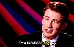 Chris Evans loves dogs!