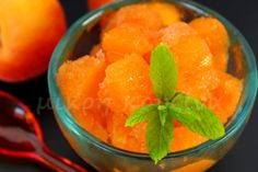 μικρή κουζίνα - σορμπέ βερύκοκο Cantaloupe, Watermelon, Peach, Candy, Fruit, Food, Peaches, Eten, Candles