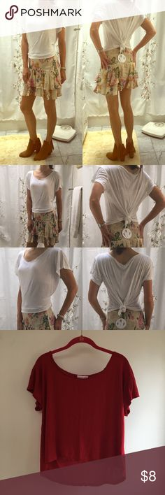 2 for $8 Ambiance Apparel Rayon White Tee Ambiance Apparel plain Tee size Small in white. Also available in yellow, grey & red, which are also listed on Posh - see last three pics. Really soft! 100% Rayon. Note: You can bundle this item with another eligible 2 for $8 item from my closet, offer $8, and I'll accept! Tops Tees - Short Sleeve