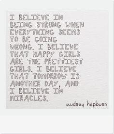 A beautiful quote from Audrey Hepburn