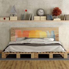 Cabecero de cama de madera de pino, con un diseño único. #cabecerosdecama #decoración #dormitorio #kamasutra #dulcessueños