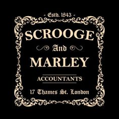 Scrooge and marley sign google search christmas carol for Bah humbug door decoration