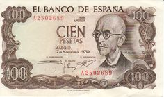 Composer Manuel de Falla as depicted on a former currency note issued in Spain in 1970 Foto Madrid, Money Notes, Nostalgia, European History, Coin Collecting, Postage Stamps, Childhood Memories, Banknote, Senior Year