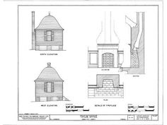 Williamsburg Colonial Brick Cottage - Detailed Plans | eBay