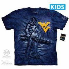 West Virginia University Mountaineers Kids T-shirt | Inner Spirit Yellow