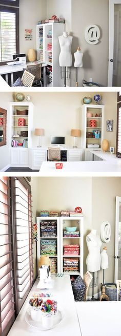 Sewing Space Makeover - I love seeing where other people create!