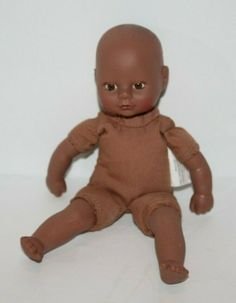 "Circo African American Mini Baby DOLL 8"" Dark Skin Brown Eyes Cloth Body Small #Circo #BabyDoll"