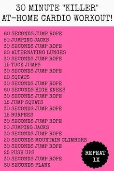 30 Minute At-Home Cardio Workout
