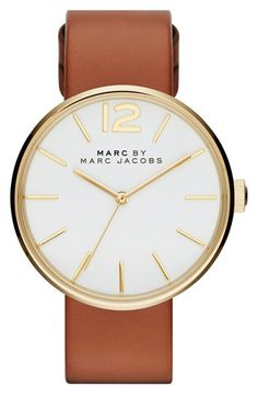 MARC BY MARC JACOBS 'Peggy' Leather Strap Watch, 36mm available at #Nordstrom