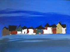 Blue row of houses  Sandra Pratt