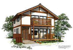 K28 ペン画 外観パース 木造住宅パース 瓦屋根の住宅 手書きパース 一戸建て 手描き 外観パース