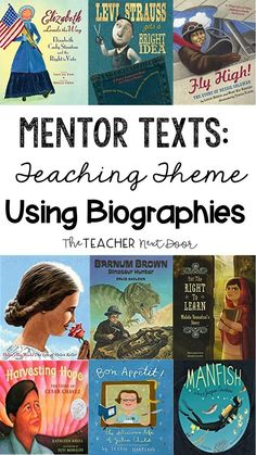 Teaching the theme or central message is one of the most challenging reading concepts! I like to use a variety of tools and using picture book biographies is one of my favorites! Find out how to use mentor text biographies in this step by step post! Reading Comprehension Activities, Reading Strategies, Teaching Reading, Reading Groups, Reading Passages, Learning, Third Grade Reading, Reading Test, Reading Lessons