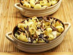 Conchiglie al Forno with Mushrooms and Radicchio