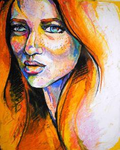 Oil pastel. ashleydorneyart.tumblr.com