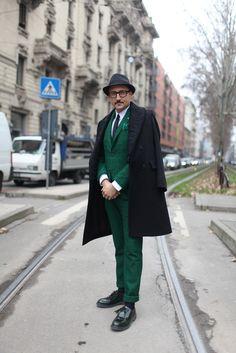 Estilo en las calles de Milán