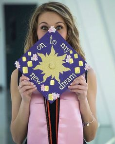rapunzel tangled Disney graduation cap