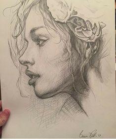 Drawing Pencil Portraits - Karakalem Discover The Secrets Of Drawing Realistic Pencil Portraits Drawing Sketches, Cool Drawings, Pencil Drawings, Drawing Ideas, Art Drawings Beautiful, Pencil Sketching, Pencil Shading, Sketch Ideas, Portrait Au Crayon