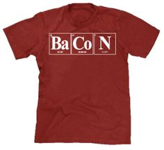 Youth Element of Bacon Shirt Funny Tshirt Science Big Bang theory Nerd Shirt