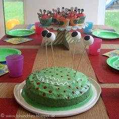 Monsterkuchen mit Augen für Kindergeburtstagsfeier / Geburtstagskuchen